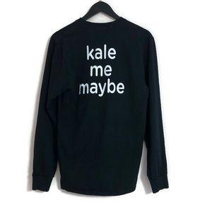 Saladworks Kale Me Maybe Black Long Sleeve Top